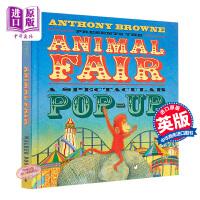 【中商原版】The Animal Fair 动物交易会 立体书 低幼认知启蒙绘本亲子互动 精装 英文原版 3-6岁