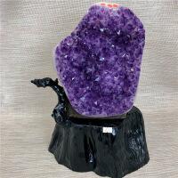 乌拉圭紫晶块簇 天然紫水晶洞招财 原石矿消磁办公摆件聚宝盆