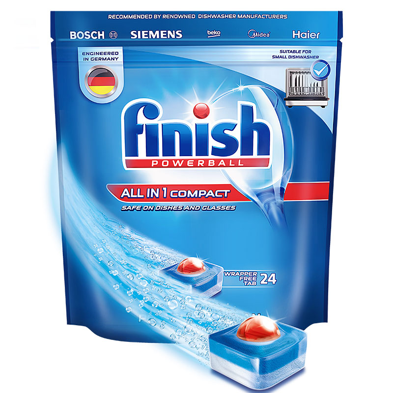 finish洗碗机洗碗块专用多效合一洗涤块264g (海尔美的方太等小型机专用) 一次一块 简单方便