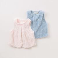 [2件3折价:59.1]戴维贝拉春装新款男女童背心宝宝纯色马甲DB8525