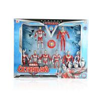 锐视 8个小奥特曼+4个飞机  咸蛋超人  儿童小孩礼物玩具模型 1117201-03组合*
