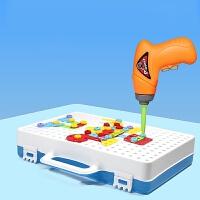 儿童拆装玩具男孩可拆卸螺丝刀组装玩具车宝宝幼儿园2-3-4岁 电钻拆装螺丝拼图 彩盒装