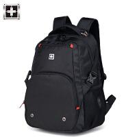 瑞士双肩包男士背包军刀商务电脑包大容量书包女运动休闲高中学生