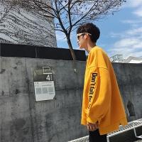 卫衣男士圆领韩版春秋季港风情侣套头T恤青少年潮流男装运动外套
