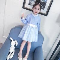 女童春装连衣裙2018新款韩版儿童装裙子春秋女大童时尚洋气公主裙