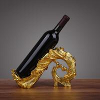 孔雀红酒架摆件 酒柜装饰品 时尚创意树脂酒托