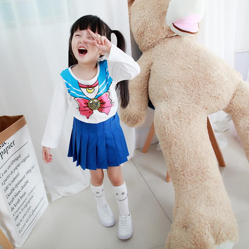 童装女童长袖T秋季新款 甜美女孩美少女战士纯棉T恤 发货周期:一般在付款后2-90天左右发货,具体发货时间请以与客服协商的时间为准