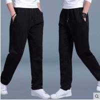 运动裤男士休闲裤秋季纯棉运动长裤大码健身宽松跑步直筒针织卫裤
