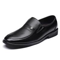 DAZED CONFUSED商务正装无鞋带不系带黑色上班工作男鞋休闲男士皮鞋软皮西装青年