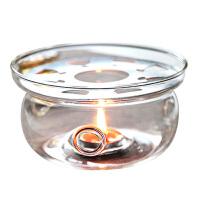圆形水晶玻璃底座花茶壶玻璃壶加热器耐热心形蜡烛暖茶温茶器300--800ml适用