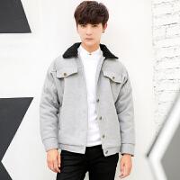 新款秋冬韩版翻领修身毛呢男士外套短款小个子呢大衣S小码XS