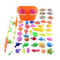 20180527233320436天天儿童宝宝小孩小猫钓鱼玩具儿童戏水磁性钓鱼水池篮子