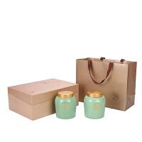 茶叶包装盒空盒通用半斤一陶瓷茶叶罐大号双密封罐