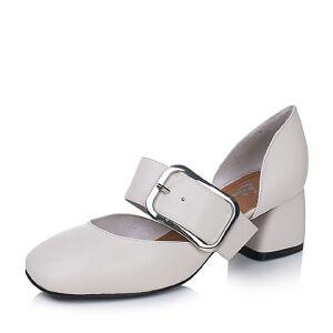 Bata/拔佳2017专柜同款一字扣带复古方头女玛丽珍鞋78-91BK7