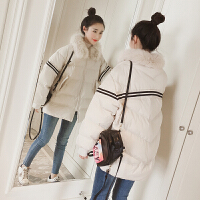 chic棉衣外套女学生冬装新款韩版中长款白色羽绒面包厚棉袄潮