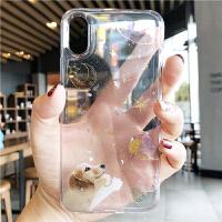 iphone8plus手机壳新款创意6s狗狗全包苹果x硅胶透明女7p防摔软套