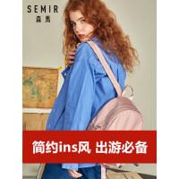 森马双肩包女大学生简约森系书包ins韩版尼龙小包百搭时尚潮背包