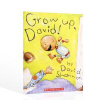 英文原版进口绘本 成长吧,大卫 GROW UP, DAVID! 宝宝低幼启蒙大卫威廉姆斯少年幽默成长系列小说
