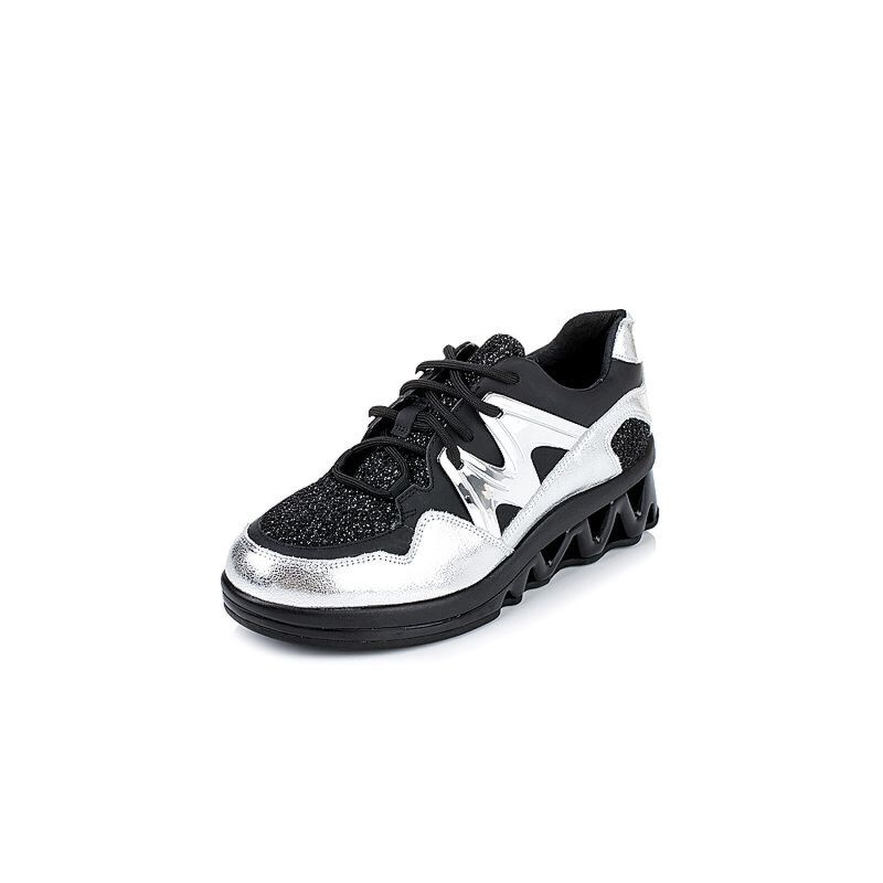 Teenmix/天美意秋专柜同款牛皮/纺织品女单鞋6M923CM6