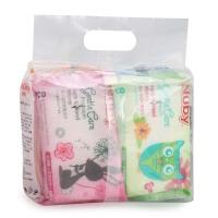 努比nuby婴儿湿巾宝宝手口湿纸巾新生儿 儿童柔湿纸巾小包8抽*8包