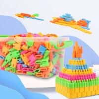 子弹头积木塑料拼插拼装益智宝宝儿童玩具男女孩3-6-7-8周岁批发