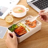 日式饭盒便当盒 学生带盖韩式可爱2层分格微波炉长方形便携餐盒