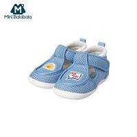 【2件3.8折】迷你巴拉巴拉婴儿一段学步鞋男女宝宝夏季透气亲肤软底魔术贴鞋子