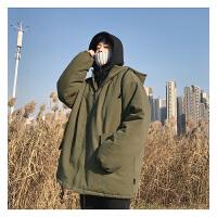 冬季男士棉衣韩版加厚假两件羽绒棉服棉袄外套新款冬装潮