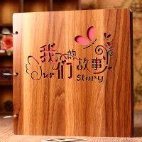 相册本影集纪念册拍立得情人节礼物 木质diy相册手工创意情侣浪漫