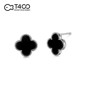 T400四叶草简约时尚流行耳钉    81108