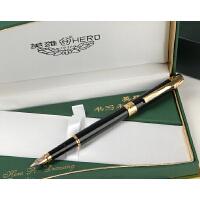 英雄200C型 14K金 黑色金夹 金笔 墨水笔 英雄钢笔 高档礼品笔 老钢笔