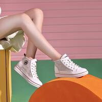 骆驼女鞋2019秋季新款韩版百搭学生板鞋潮鞋系带平底高帮休闲鞋女