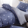 伊迪梦家纺全棉印花三件套高支高密斜纹纯棉面料简约被套床单被罩枕套儿童学生宿舍单人床1.2/1.35m米床FY5