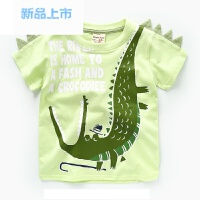 男童卡通短袖T恤 夏装小童童装儿童宝宝女童打底衫半袖上衣