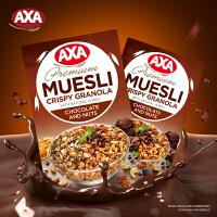 AXA(瑞典)进口巧克力坚果即食麦片250g脆麦非ica燕麦片早餐冲饮