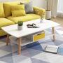 【大促领券1件3折】北欧茶几简约现代小户型客厅沙发边桌家用卧室小圆桌移动小茶几桌