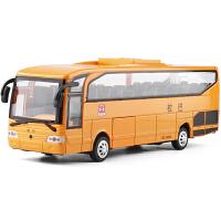 声光回力合金公交巴士客车儿童玩具礼盒装1:26美国大校巴校车