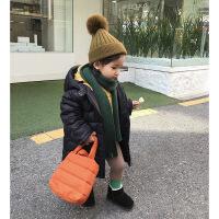 婴童装冬装儿童羽绒服女童中长款白鸭绒1-3岁宝宝连帽外套