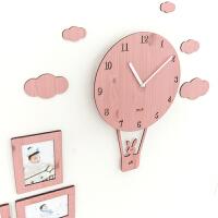 摇摆挂钟客厅现代个性钟表儿童卧室静音家用时钟