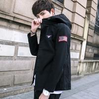 20180627043456505新款2018男士夹克时尚春季青年夹克外套修身韩版男士外衣薄款潮流