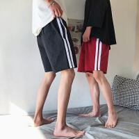 2018夏季新款男士休闲短裤韩版宽松侧条纹五分裤男运动裤子潮