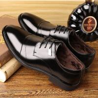 皮鞋男休闲鞋真皮男鞋工作鞋春季新品男士商务正装圆头单鞋鞋子男镂空3688JLF