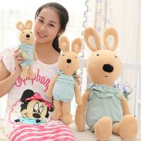 可爱毛绒玩具砂糖兔公仔婴儿装小兔子大号布娃娃玩偶生日礼物女生