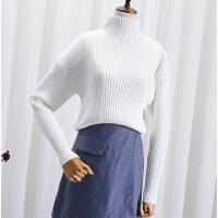 L@30 冬季百搭纯色半高领打底衫韩版长袖显瘦针织毛衣
