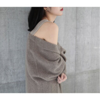 秋冬2018新款羊绒韩版宽松针织开衫女慵懒风中长款羊毛毛衣外套女