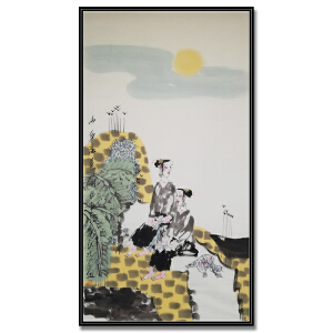 中国美术家协会会员、陕西连环画艺术委员会委员 刘永杰《山乡春色》