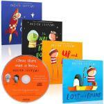 Oliver Jeffers 智慧小孩 亲子绘本4本 英文原版绘本 Lost and Found,Up and Dow