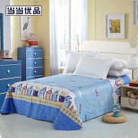 【2件5折】当当优品 纯棉斜纹印花双人床单