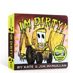 【发顺丰】原版英文绘本 I'm Dirty! 垃圾车的快乐工作 儿童城市清洁认知纸板书 亲子讲解阅读图书 幼儿启蒙英语