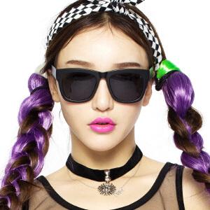 音米炫彩彩色太阳眼镜 女士复古墨镜 时尚偏光司机开车太阳镜潮人
